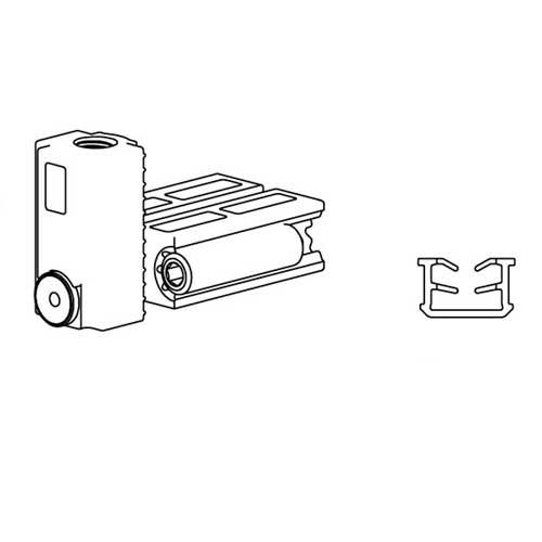 К-т системы New Universal (Eclettica)/1500x3000 , на 1 дверь, с 2мя довод,80кг, L=1500мм, черный