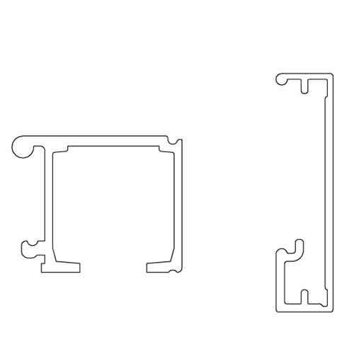 К-т верхней направляющ. New Universal (Eclettica) L=2000мм (крепл. к стене+заглушки) , черный