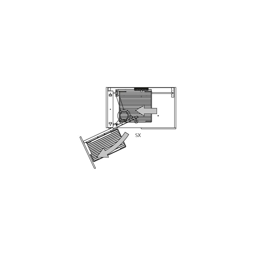Карго Elite угловое 900мм (860х480/540х600/850мм), левое, с доводч., хром