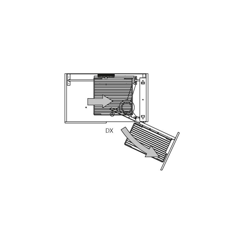Карго Elite угловое 900мм (860х480/540х600/850мм), правое, с доводч., хром
