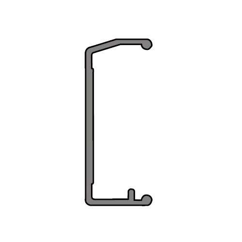 Карниз декоративный анодир., алюм., 2,3,4,6м