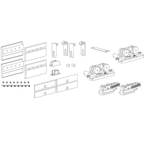 Комлект держателей Vetro, 10мм, 100кг с роликами и демпферами