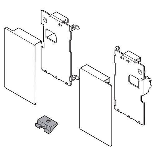 К-т держ.фасада LEGRABOX M, для внутр.ящика, терра-черный