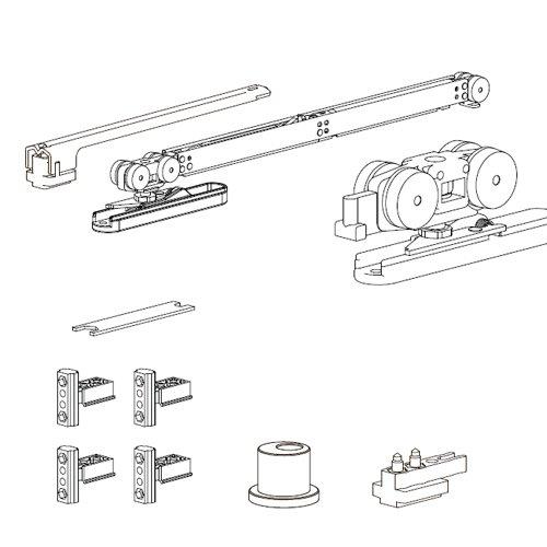 Комплект мех-мов со стопором и Air-доводчиком для серии 110 (узкий), 50кг