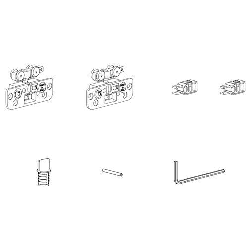 Комплект механизмов на одну дверь (стопор+стопор), до 15кг, Lмин 400мм