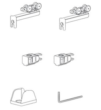 Комплект механизмов с 2мя стопорами, 15кг
