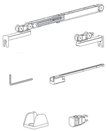 Комплект механизмов с доводчик+стопор, 15кг