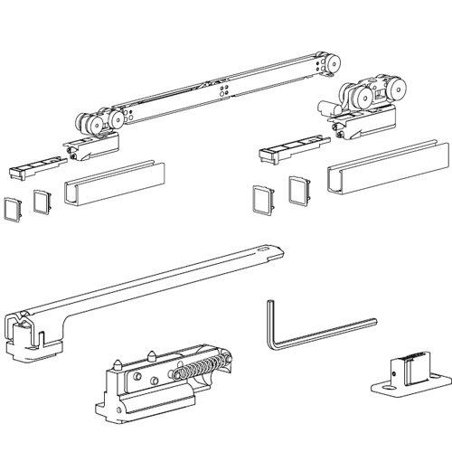 Комплект разд. системы Evolution, доводчик AIR + демпфер (мин 700мм), 80кг (без арт. 127)