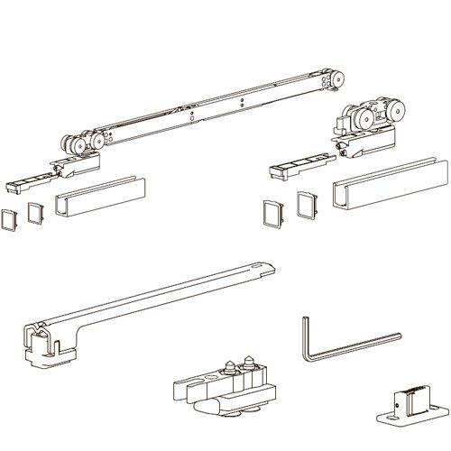Комплект разд. системы Evolution, доводчик AIR + стопор (мин 700мм), 120кг (без арт. 127)