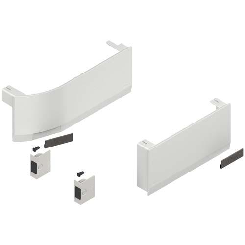 Комплект заглушек лев/прав, для SD (вкл. кнопки, амортизаторы) для AVENTOS HK top, белый шелк