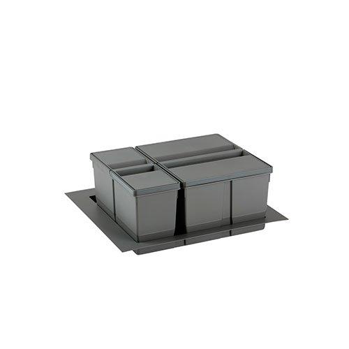 Контейнер 9XL 60см, стандартная крышка без аксессуаров, (26+11л) h277мм, серый орион