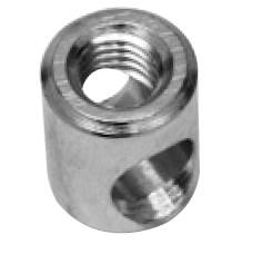 Корпус стяжки d=14мм, L=17мм, M8 цинк полир.(сталь)
