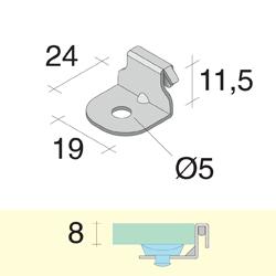 Крепеж для полок, левый, хром мат. (снят с про-ва)