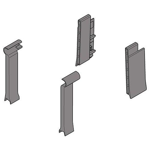 Крепл. для стекл.Boxside, передн.-задн., лев.+прав., серый (пластик)