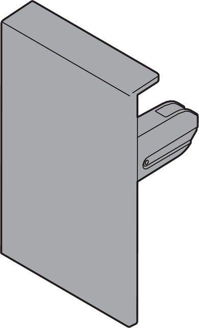 Крепление передней панели ANTARO M, прав., белый (пластик)