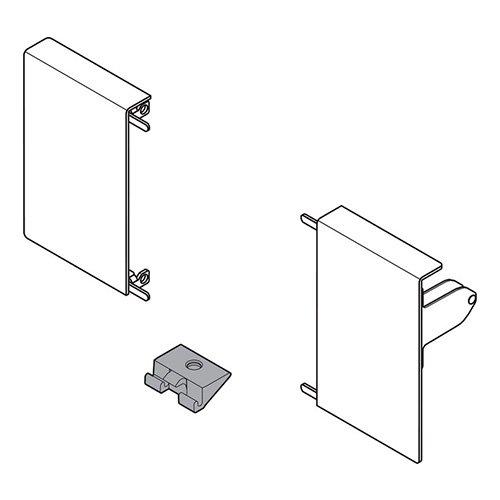 Крепление передней панели M, INTIVO, лев+прав, никель (сталь)