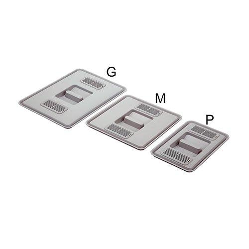 Крышка для ведра М (средняя) с фильтром, пластик,серебристая