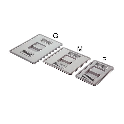 Кришка для відра М (середня) з фільтром, пластик,срібляста