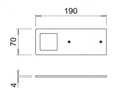 LED-светильник Polar 5Вт 24В WW (теплый свет), алюминий