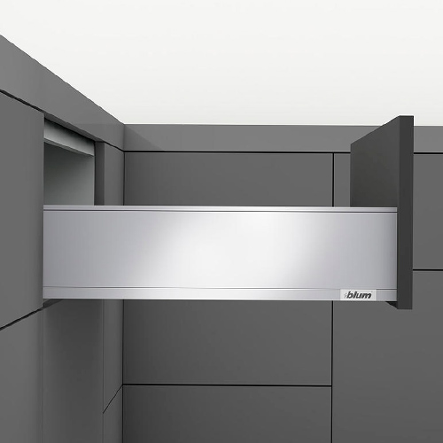 LEGRABOX pure, TIP-ON BLUMOTION, высота K 350, 40кг, нерж.