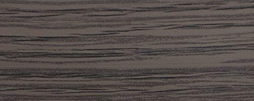 Лента ABS дуб Шато антрацит 23х2 мм, ST9, 75