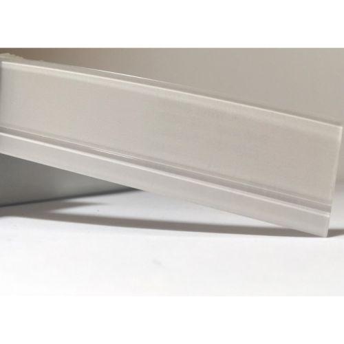 Лента белый с белой полосой глянец 23х1,3 мм, uni, 100