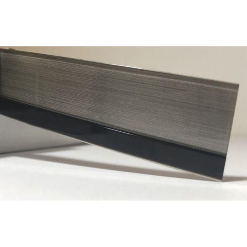 Лента серебристая с черной полосой глянец 23х1,3 мм, uni, 100