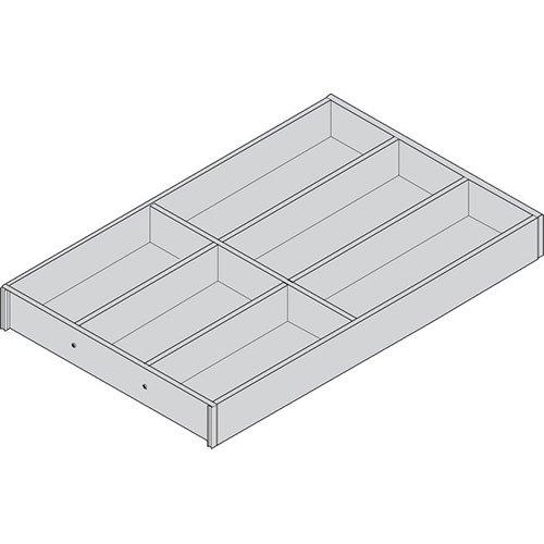 Лоток AMBIA-LINE для столовых приборов для LEGRABOX, L=500мм, станд.ящик, Дуб Бардолино/белый