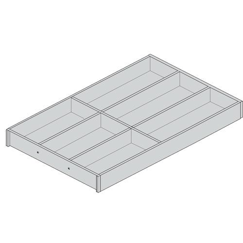 Лоток AMBIA-LINE для столовых приборов для LEGRABOX стандарт.ящик, Орех Теннесси/черный