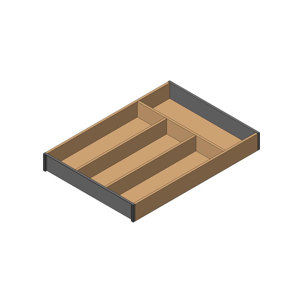 Лоток AMBIA-LINE для столовых приборов LEGRABOX, L=450мм, стандарт.ящик, Дуб Бардолино/белый