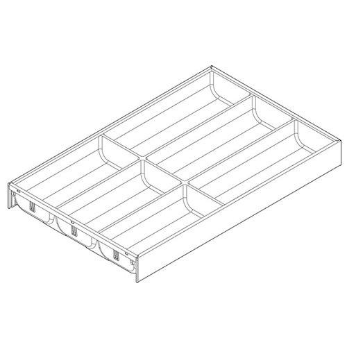 Лоток AMBIA-LINE для столовых приборов LEGRABOX, L=500мм, белый шелк