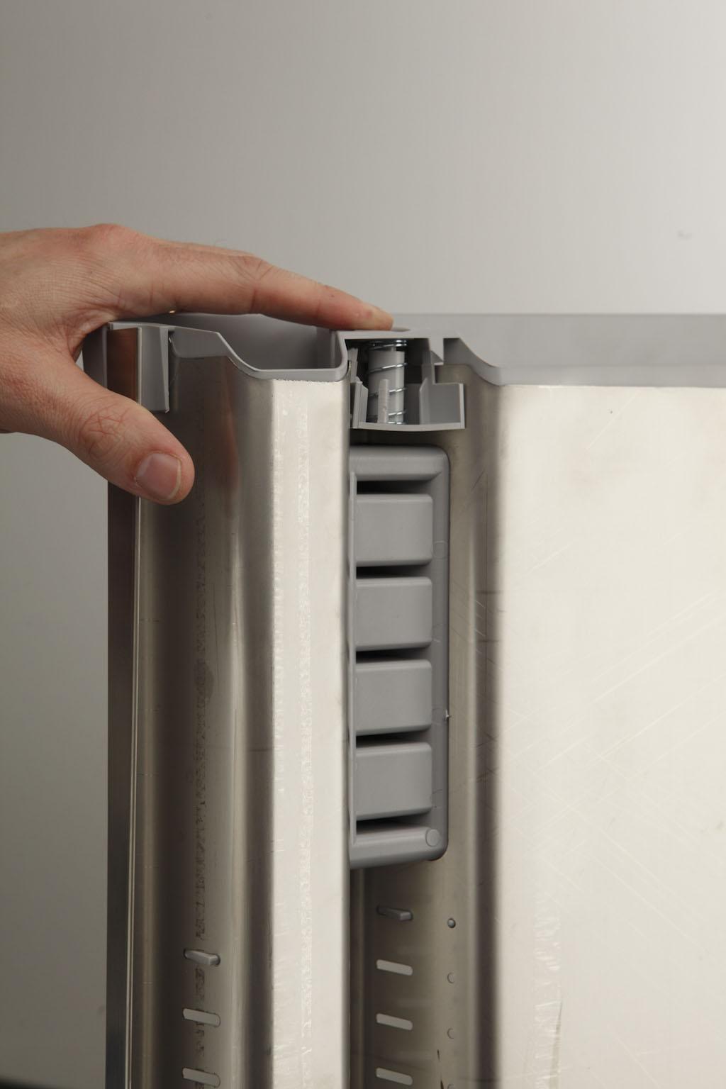 Лоток FLEXO 90см, для стол.прибор.,для тандемов,нержав.+пластик,сатин