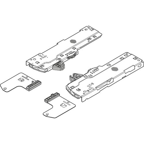 Мех-зм + триггер + шестерни (L5) TIP-ON Blumotion 450-750мм, вес ящика=35-70 кг, лев.+прав., черный