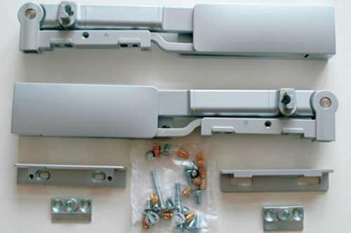 Механизм PEGASO на дверь 450мм, с доводчиком