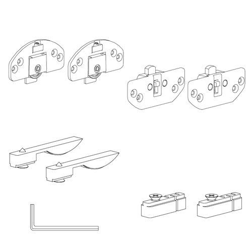 Механизм Scorribase Medio для ДСП (пластик), 15кг