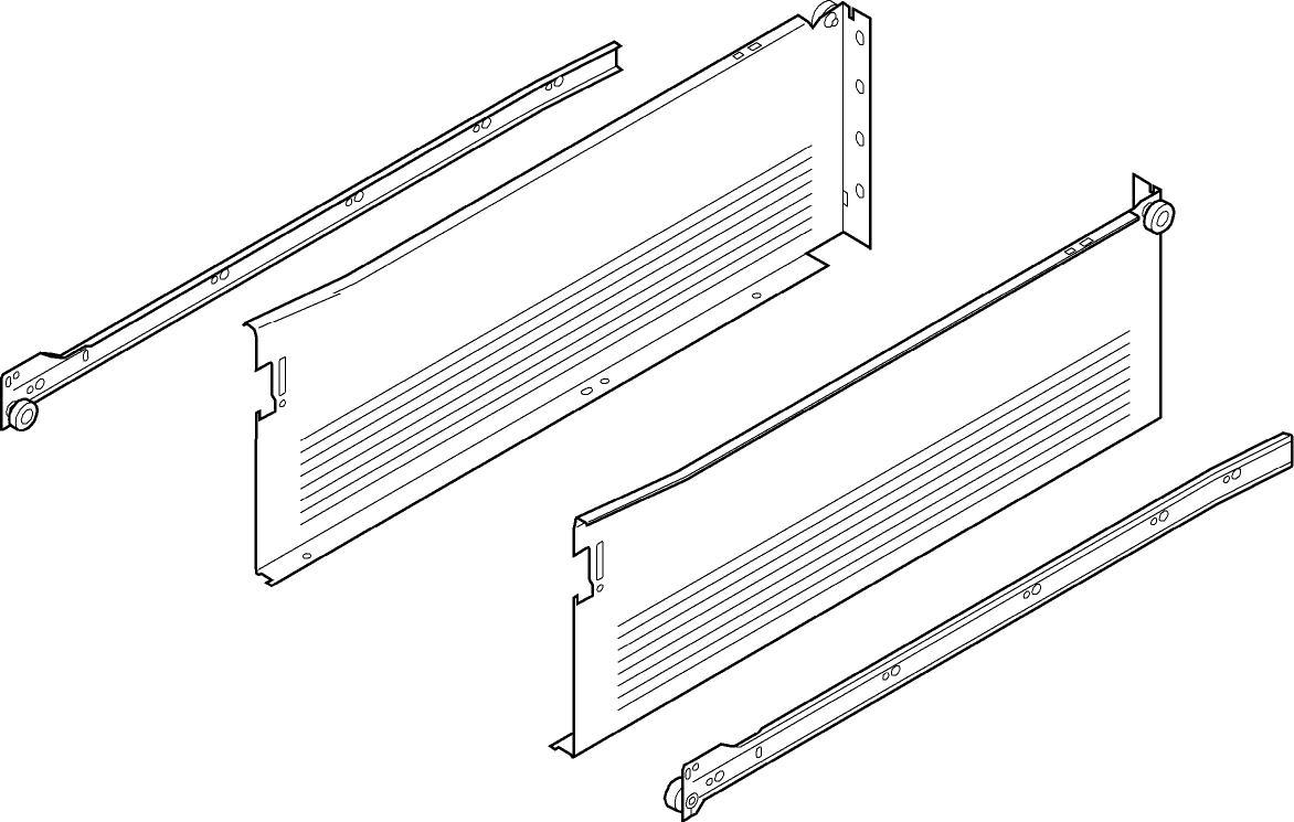 METABOX H (150мм), L=400мм, кр.-белый