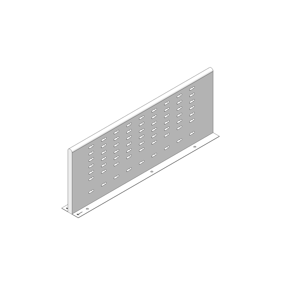 Межсекционная стенка под мойку на 450мм, белый