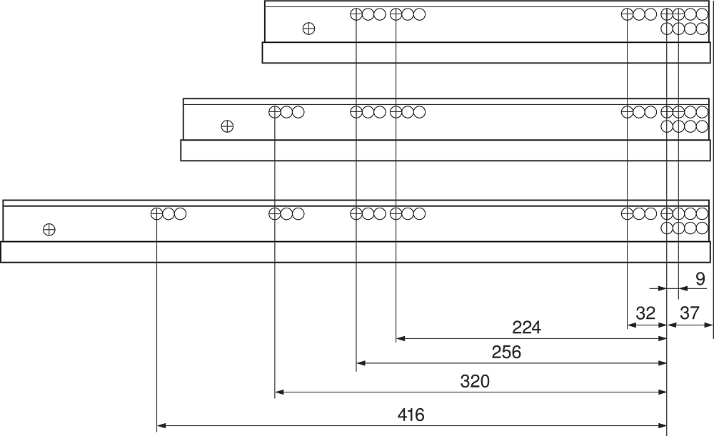 Направл. MOVENTO на 60кг, полн. выдв. L=700мм, TIP-ON Blumotion   (заменена на Blumotion S)