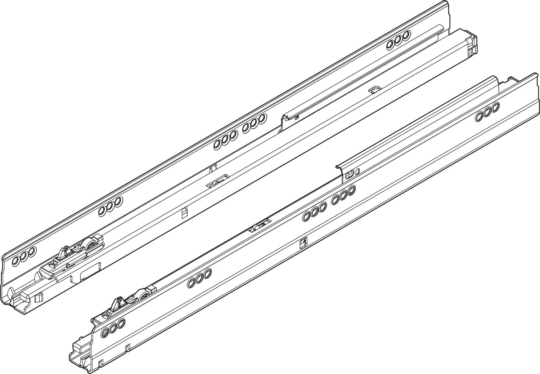 Направляющая TANDEMBOX с Blumotion L=650мм, 65кг, лев.+прав.
