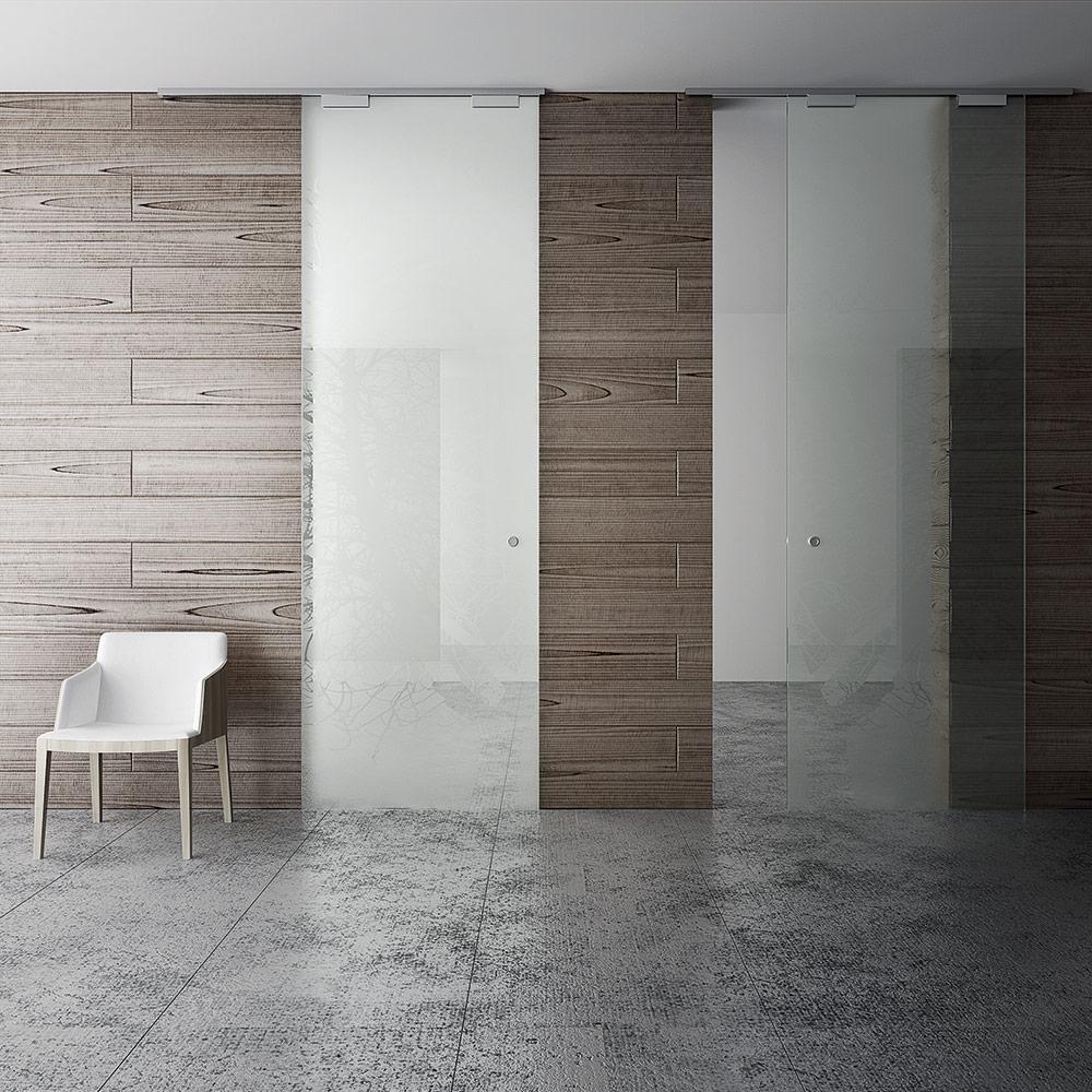 Направляющая верхняя (одинарная+глухое стекло), 6м