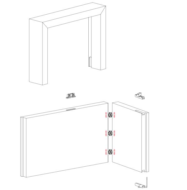Направляющая врезная для системы PRATICO (гармошка), 6м, алюминий