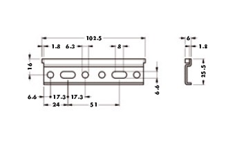 Навесная планка 102,3мм для подвеса арт.814.64.Z1