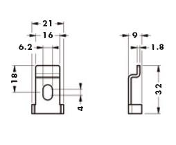 Навесная планка для подвеса арт.814.35