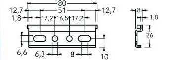 Навесная планка для малого подвеса арт.814.64.Z1.00.10