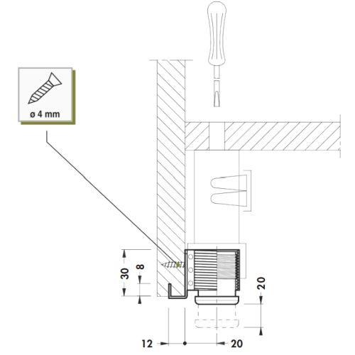 Опора для шкафа d=28мм (забивная)