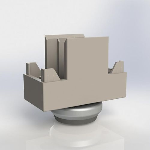 Опора-пятка прямая H=29мм, алюминий