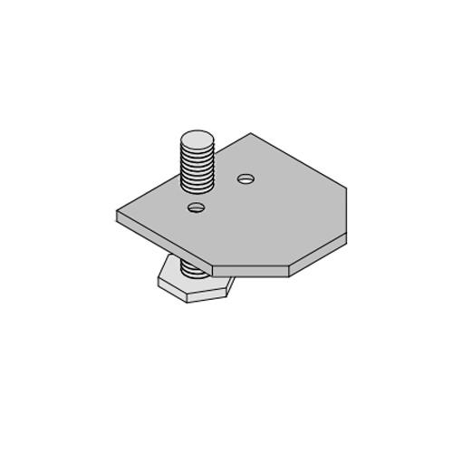 Опора с регулировкой для профиль C7003, сталь (3PC001+3PC003)