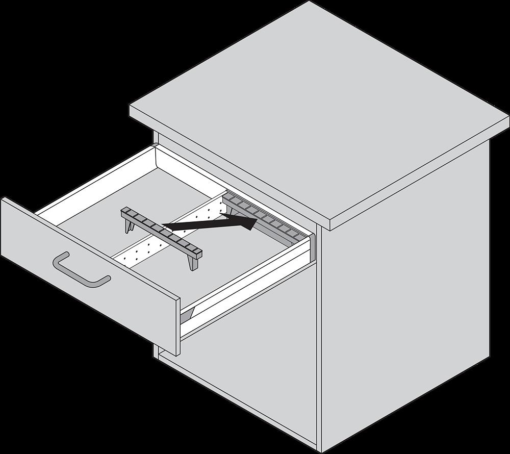 ORGA-LINE для TANDEMBOX, NL = 500 мм, ширина = 103 мм