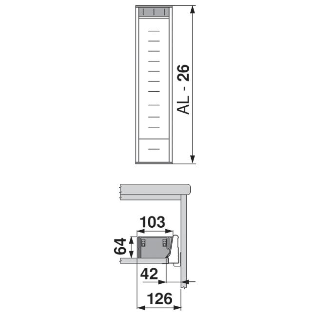 ORGA-LINE для TANDEMBOX, NL = 550 мм, ширина = 103 мм