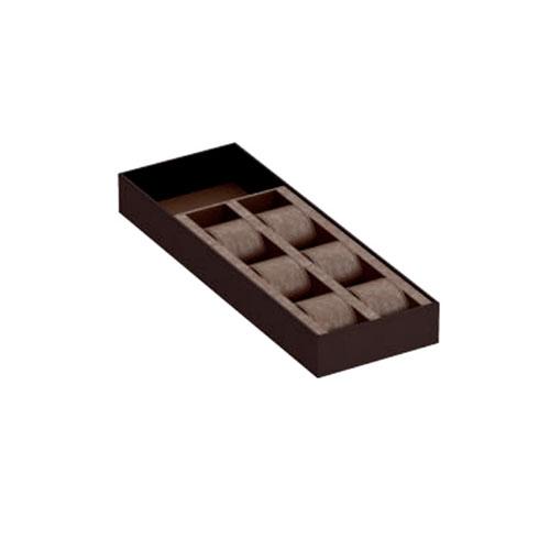 Органайзер для часов 432х150мм, Экокожа коричневый + Арахисовый велюр